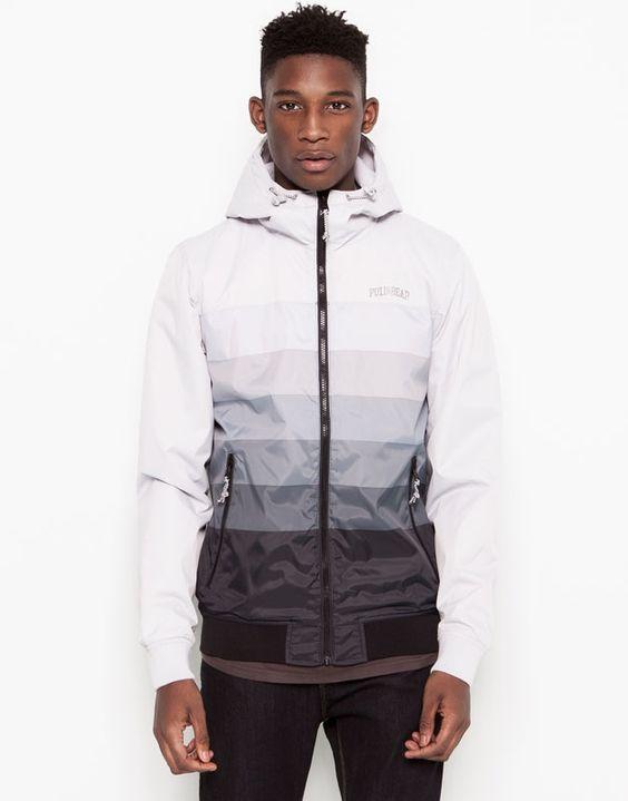 pull bear man jackets jacket with hood black. Black Bedroom Furniture Sets. Home Design Ideas