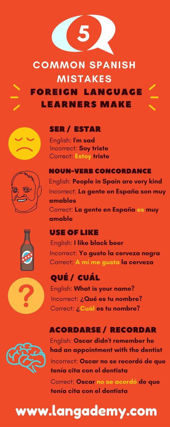 5 common Spanish mistakes foreign language learners make 3