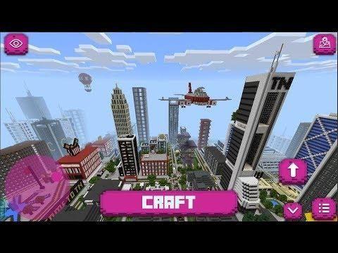 Big City Craft Modern City Build Craft Minecraft Pe City Map Android Gameplay Modern City Minecraft Minecraft Pe