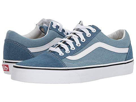 VANS Old Skool™, (DENIM TWO TONE) BLUETRUE WHITE. #vans