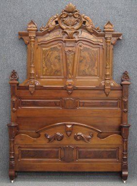 Renaissance Revival Victorian Bedroom Set Antique Beds