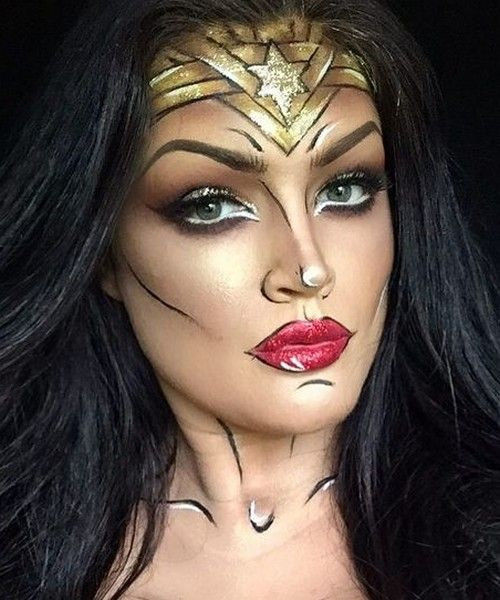 Idée Maquillage Pop Art de Wonder Woman (9)