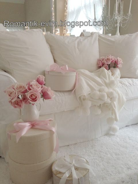 My Shabby Chic Living Room Romantic Living Room Pillow Talk Pinterest Romantic The