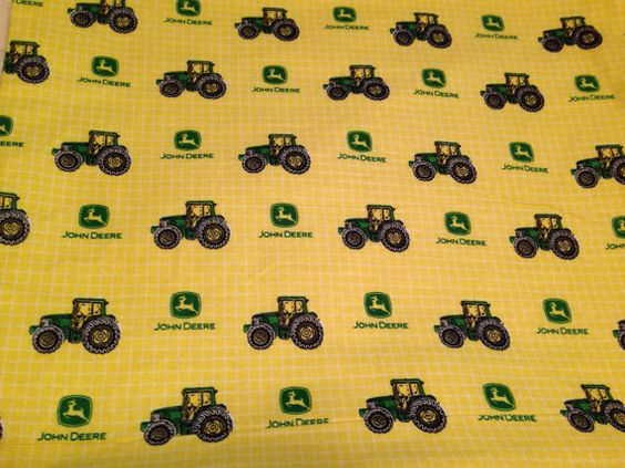 Large Baby Swaddle Blanket, Big Green Tractor, John Deer, Green, Yellow, Baby Receiving Blanket, Baby Shower Gift on Etsy, $18.50