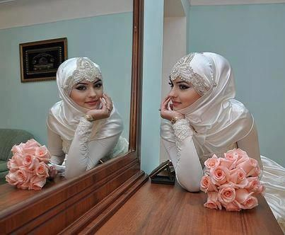 hijabi bride ❤ hijab style