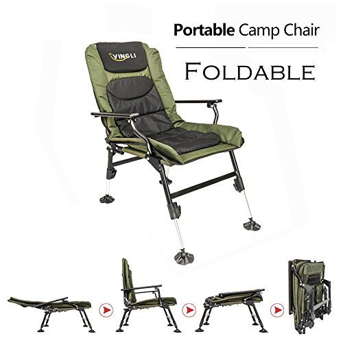 Beach Fishing Picnic Stool with Back Support Outdoor Portable Foldable Chair