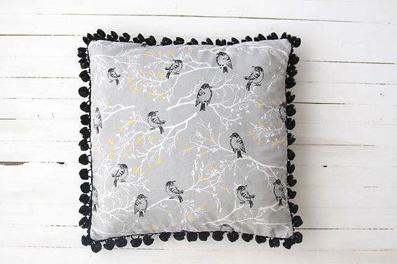 Sewing tutorials, Pom pom trim and Throw pillows on Pinterest