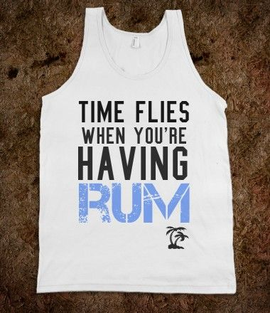 Time flies when you're having rum... beach cover up!:
