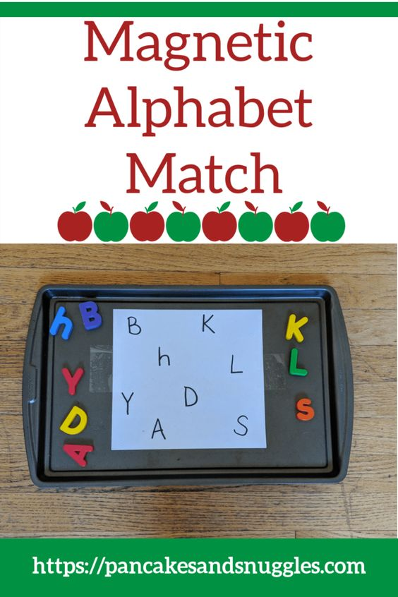 Looking for a quick and easy to prep activity for your toddler? Check out my magnetic alphabet match! #toddler activity, #alphabet