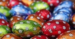 wrapped chocolate eggs