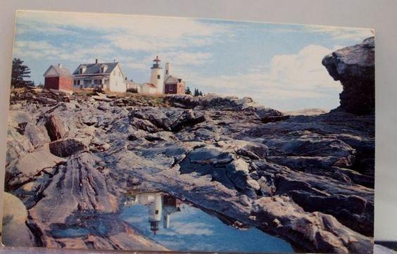 Maine ME Pemaquid Point Light Postcard Old Vintage Card View Standard Souvenir