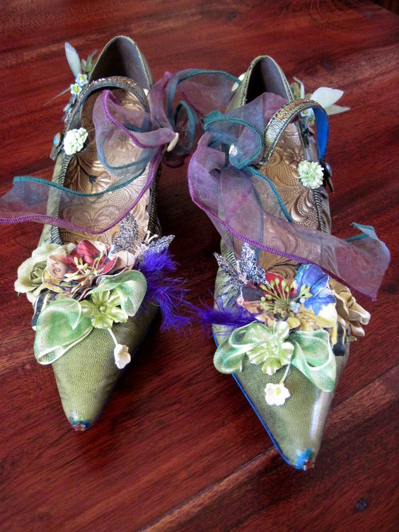 Garden of Nature Shoes, Handmade by Trish Vernazza, Visions of Venus Store on etsty