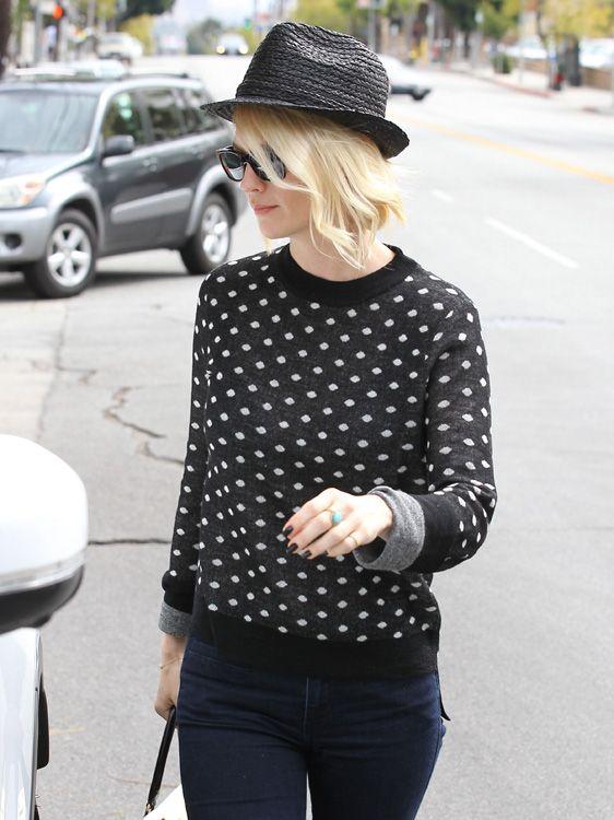 January Jones Polka Dot Sweater