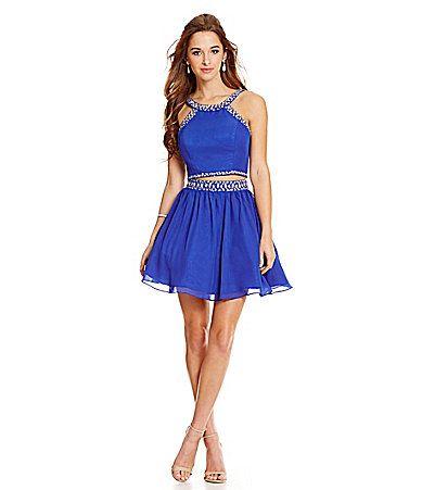 B darlin royal blue dress knee