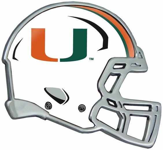 Miami Hurricanes Auto Emblem - Helmet