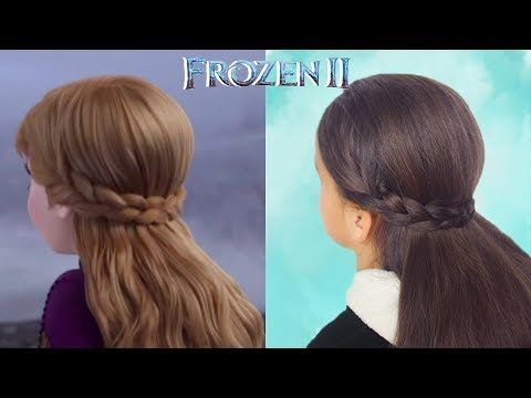 Princess Anna S Hairstyle From Frozen 2 Youtube In 2020 Anna Hair Frozen Anna Frozen Hair Princess Hairstyles
