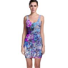 Graffiti Splatter Bodycon Dress by ArtistRoseanneJones