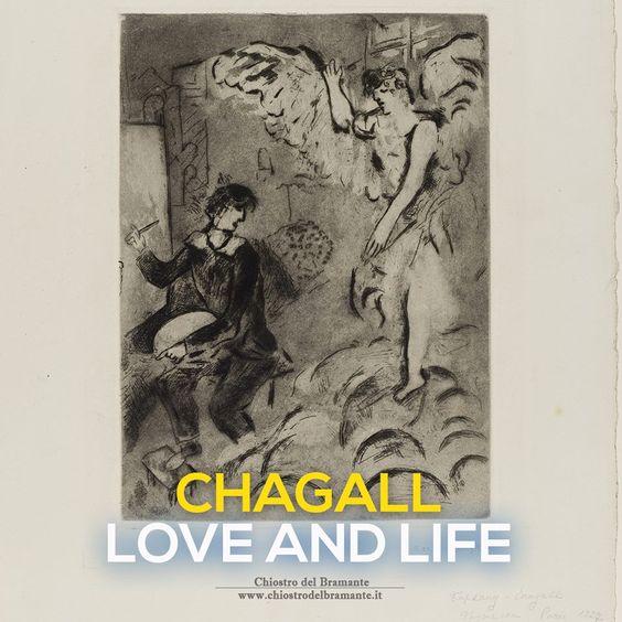 """- Visioni e ricordi dischiusi nella raffigurazione in grado di assegnare all'opera diversi piani di lettura. CHAGALL si serve del Cubismo per la creazione di un mondo autonomo, dipendente soltanto dalla propria psicologia - #ChagallRoma   In mostra: """"L'apparizione"""", 1924/25 - Acquaforte e acquatinta"""