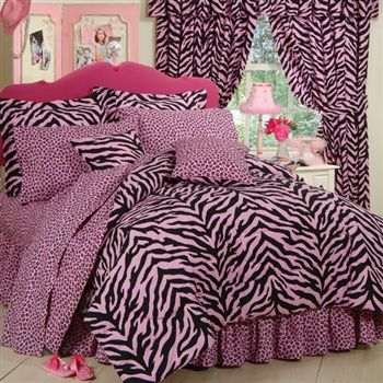 Girls Zebra bedding!