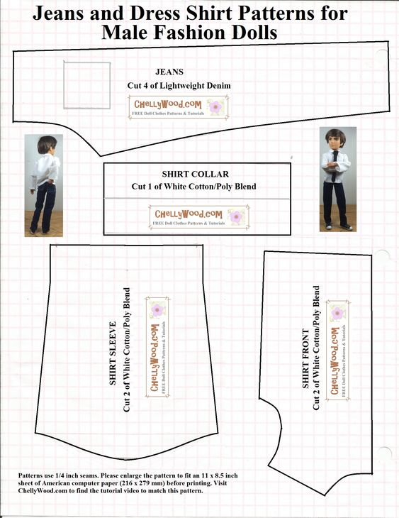 Nifty image throughout free printable ken doll clothes patterns