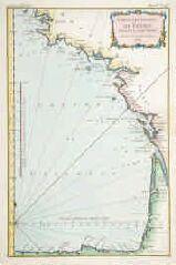 1 vue  - Carte des Costes de France depuis Brest jusqu'à Bayone. (ouvre la visionneuse)