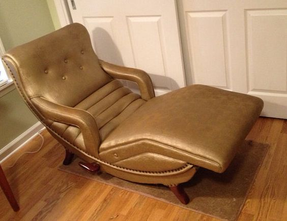 Vintage Contour Chaise Lounge Psychiatrist Chair Mid Century Modern Recliner Ergonomic Chaise at Modern Logic | ? by design. : mid century modern chaise lounge chairs - Sectionals, Sofas & Couches