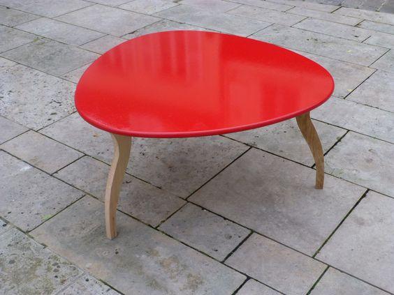 Réservée - Table basse esprit vintage toute en rondeurs Vintage et