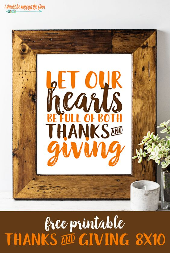 Free Thanksgiving Printable | This free (instant download) 8x10 printable is…