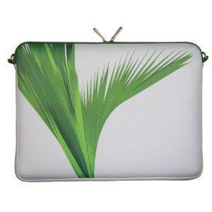 "DIGITTRADE LS138-17 Designer Notebook Sleeve 17.3"" Laptop Bag Green Neoprene Soft Carry Case up to 17.3 Inch Anti Shock System"