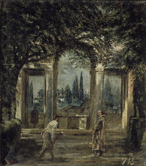 vista del jardín de la villa medici en roma- Velazquez