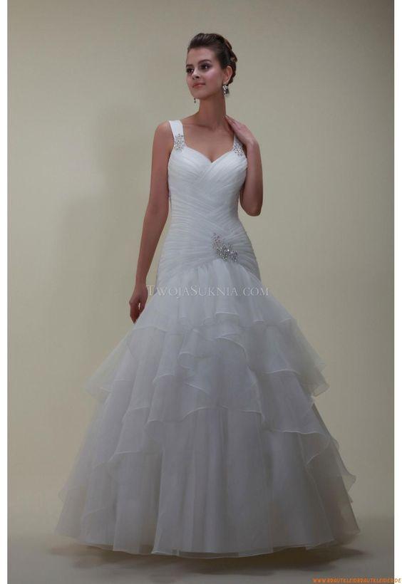 Satin  Günstige Brautkleider