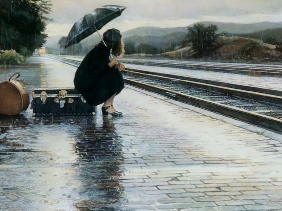 Image result for waiting in a train station pinterest