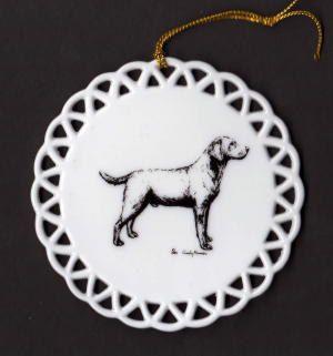 Labrador Retriever Dog  Porcelain Christmas by EarthSongFarm