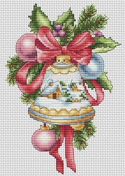 CHRISTMAS FLOWERS  BRIGHTLY COLOURED WINTER BLOOM DECORATIONS CROSS STITCH CHART