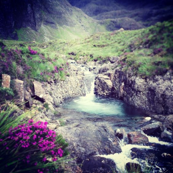 Fairy pools in Skye, Highland - Got a 4.5/5 on tripadvisor but apparently hiking boots are needed! Maybe?