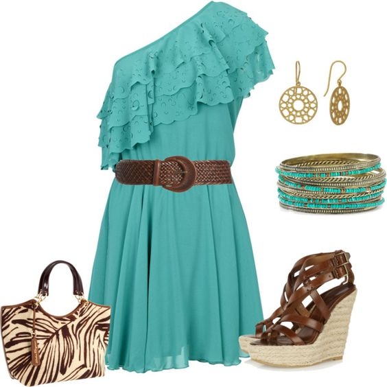 : Turquoise Dress, Cowboy Boots, Dream Closet, Cute Dresses, Fav Color, Cute Outfits, Night Outfit, Turquoise Brown