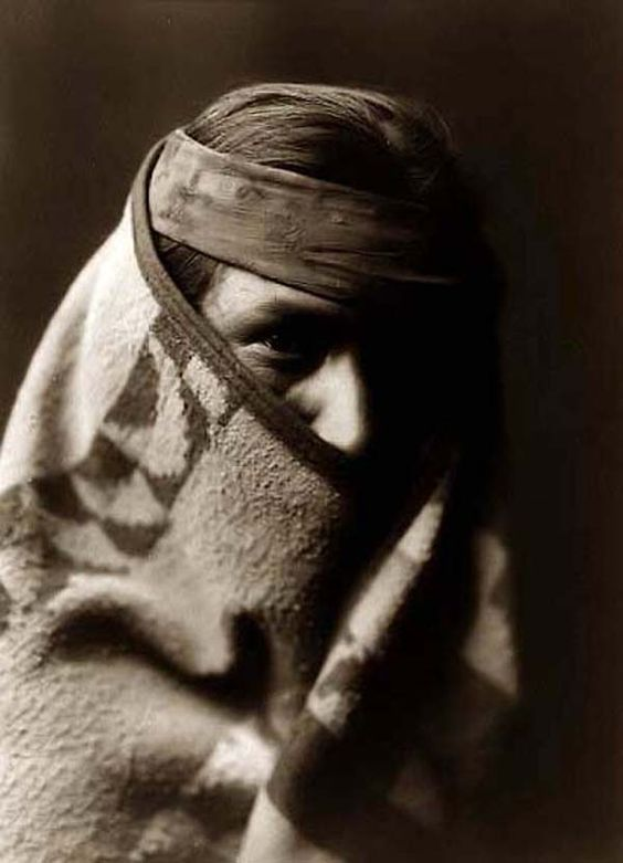 Navaho Wrapped in Blanket