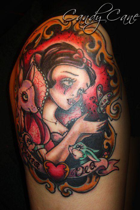 .: Tattoo S, Tattoos Piercings, Sweet Tattoos, Angel Tattoo, Amazing Tattoos, Art Tattoos, 003 Tattoos, Snow White Tattoos