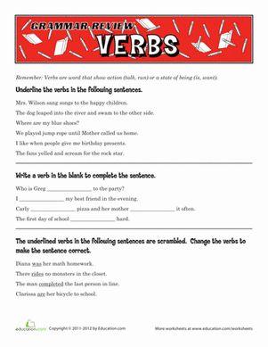 Printables Verb Worksheets 5th Grade math 5th grades and worksheets on pinterest verb grade benderos printable math