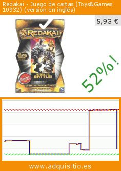 Redakai - Juego de cartas (Toys&Games 10932) (versión en inglés) (Juguete). Baja 52%! Precio actual 5,93 €, el precio anterior fue de 12,46 €. https://www.adquisitio.es/redakai/paisaje-modelismo