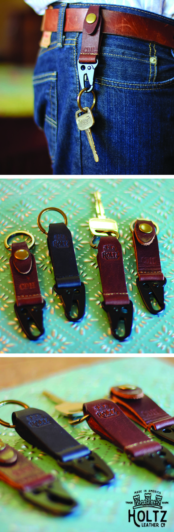 The Henry Fine Leather Keychain is a great, practical gift for your groomsmen.  This keychain can be featured in two colors and can showcase up to 3 initials.   A metal lobster clasp makes this keychain easy to put on and easy to take off.
