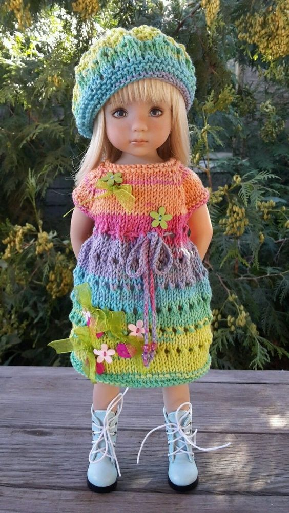 """OOAK Outfit for Doll 13"""" Dianna Effner Little Darling Hand Made 