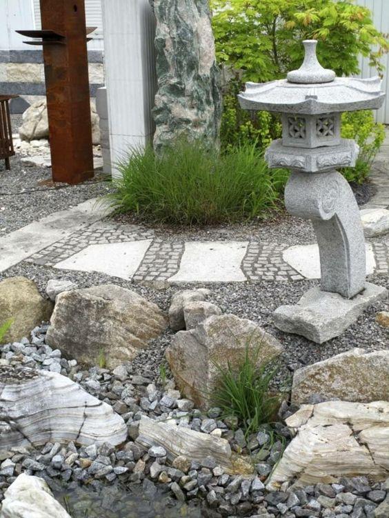 gartenideen steingarten gestalten außenbereich ideen, Gartenarbeit ideen