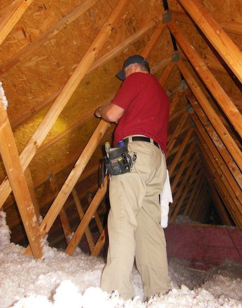 Inspecting Added Blown Insulation In An Existing Vented Attic Internachi Blown In Insulation Insulation Vented