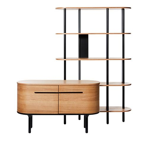 Yoko Furniture Collection Oak Black Sideboard Black Sideboard