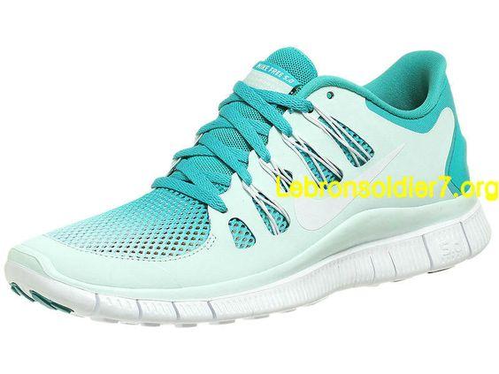 Nike Free 5.0+ Breathe Turquoise Metallic Silver 580601 313 - Click Image to Close