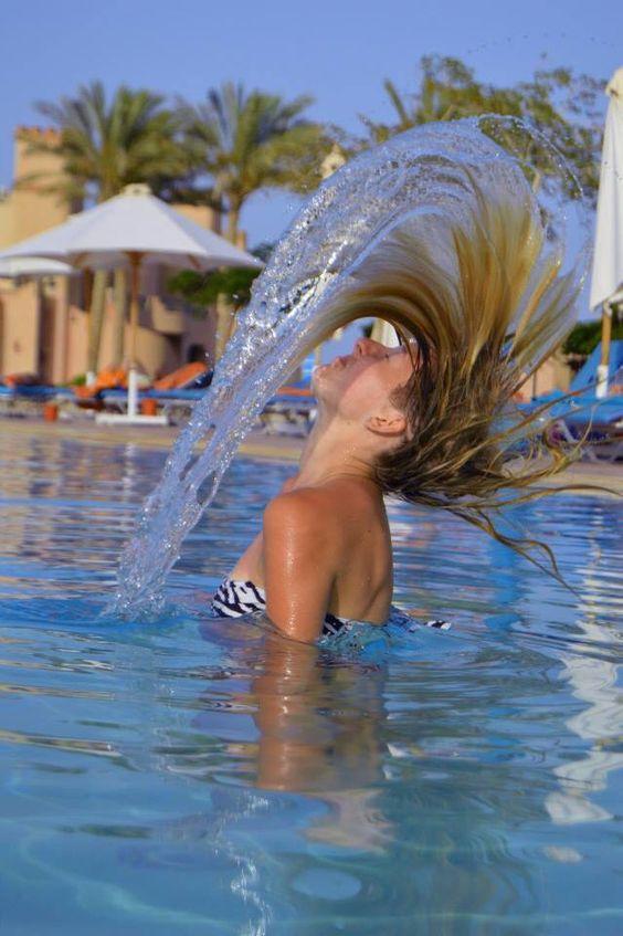 Les cheveux dans l'eau  Égypte, Marsa Alam
