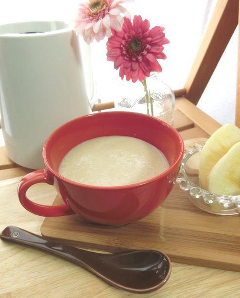 甘酒 アップル 豆乳のホットスムージー 0暮らしのレポーター スムージー 甘酒 料理 レシピ