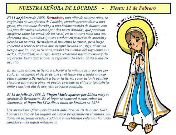 Dia De La Virgen De Lourdes: Feliz Dia Virgen De Lourdes