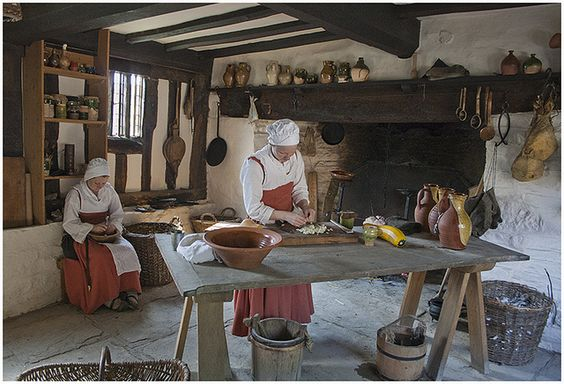 This is the kitchen in the house of Mary Arden who was the mother of William Shakespeare.: